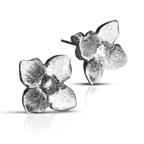 Smørblomst  øreringe - Forgyldt - reringe sølv