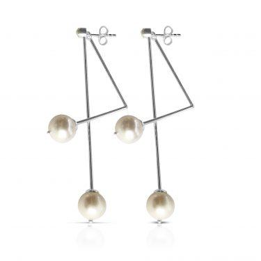 Gaia Jewels - Sølv øreringe, grafisk lilje