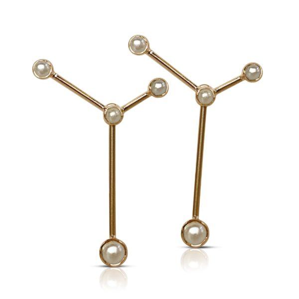 Gaia Jewels - Stjerne øreringe, guld