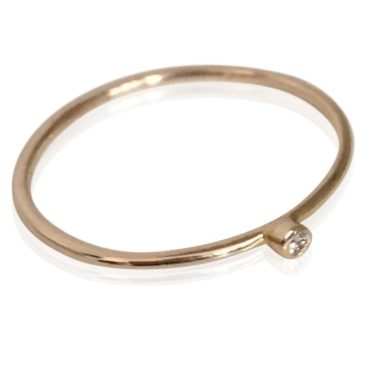 Gaia Jewels - Guldring med diamant