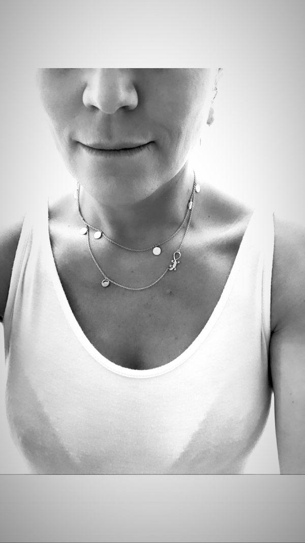 Gaia Jewels - EKSTRA LANG Pengetræ kæde - Sort Rhodineret