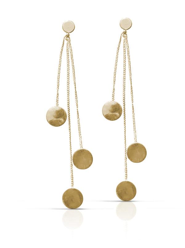 KORT Pengetræ kæde - Sort Rhodineret - Monter Guld