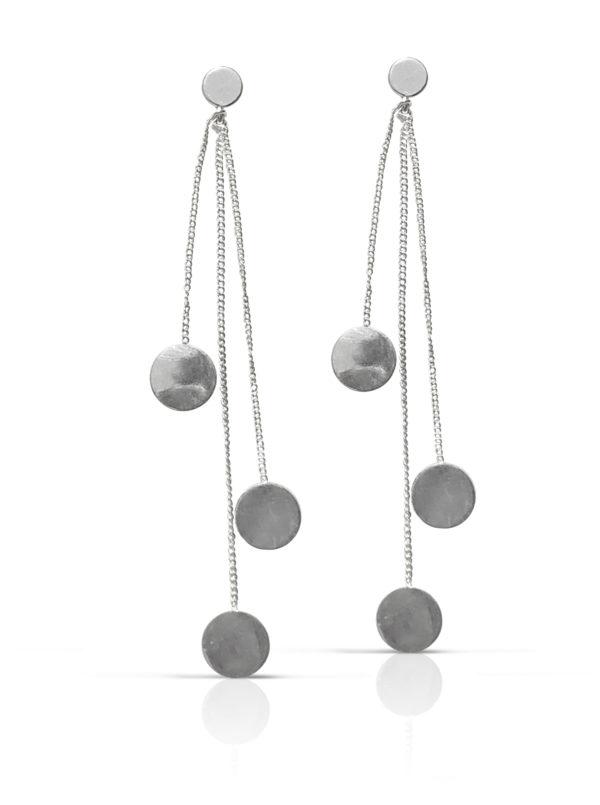 KORT Pengetræ kæde - Sort Rhodineret - Monter Silver