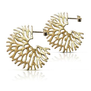 Gaia Jewels - Træ øreringe, guld