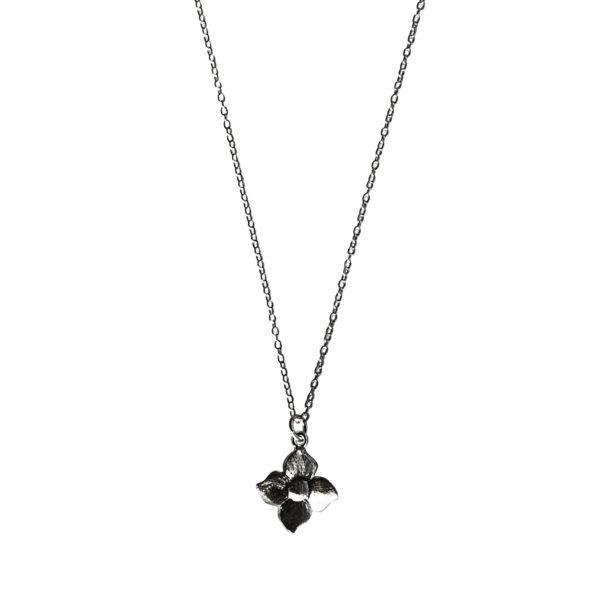 Smørblomst kæde - Sort Rhodineret - halskæde sort