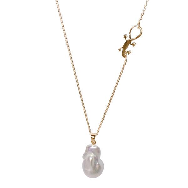 Gaia Jewels - Barok Lilje Kæde, guld