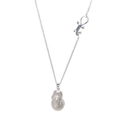 Gaia Jewels - Barok Lilje Kæde, sølv