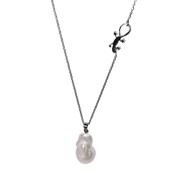 Gaia Jewels - Barok Lilje Kæde, sort