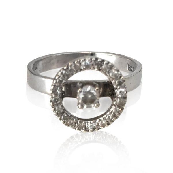 Gaia Jewels - Diamantring sølv